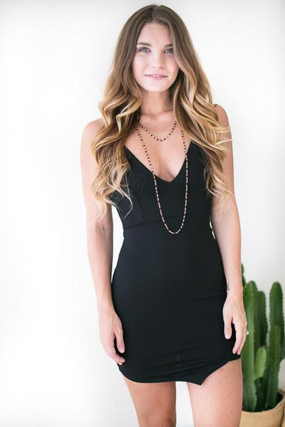 Dresses Most Girls Strappy Little Black Dress - Lotus Boutique