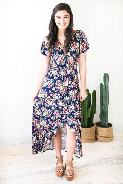 Dresses My Girl High Low Floral Dress - Lotus Boutique