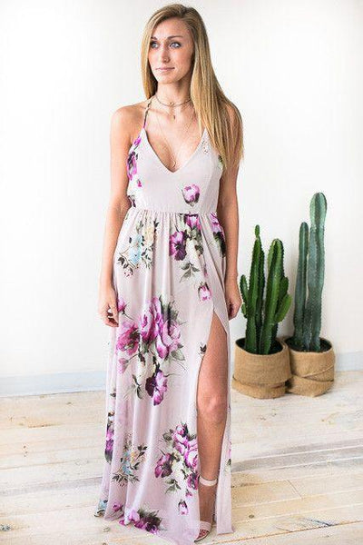 Dresses Nights With You Floral Maxi Dress - Lotus Boutique