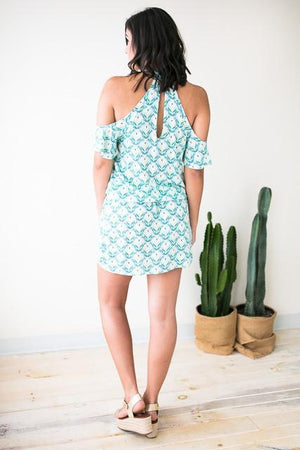 Dresses - Play It Cool Cold Shoulder Dress