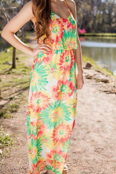 Dresses Secret To Looking Good Floral Maxi - Lotus Boutique