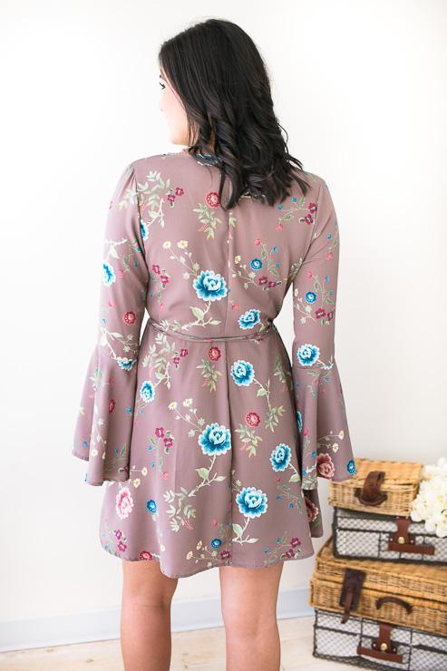 Dresses - Soft Whispers Floral Wrap Dress