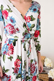 Dresses - Spring Blooms Floral Wrap Dress