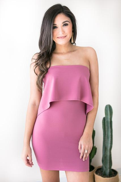 Dresses - Stunning In My Bodycon Dress - Mauve