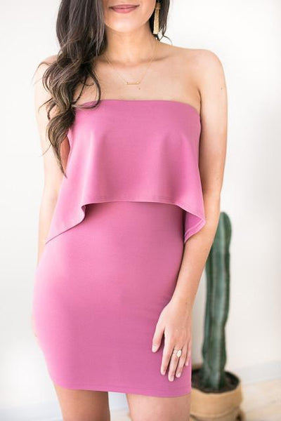 Dresses Stunning In My Bodycon Dress - Mauve - Lotus Boutique