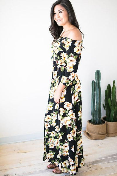 Dresses - Summer Daze Off Shoulder Maxi Dress