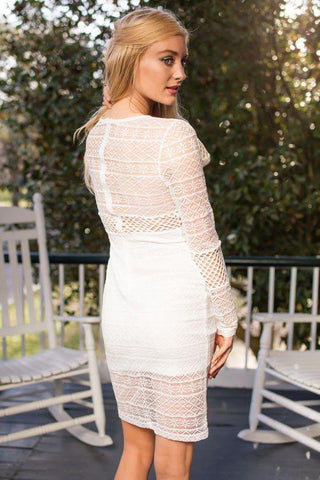 Summertime Necessity White Lace Bodycon Dress