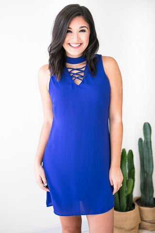 The Blue Edition Sleeveless Dress