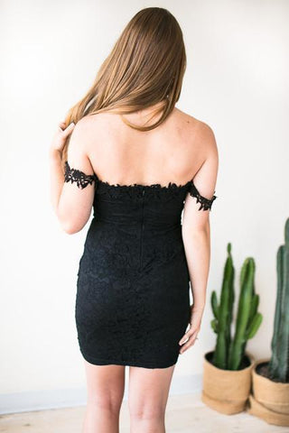 Waiting On You Black Lace Dress