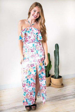 Walking On A Dream Floral Maxi Dress