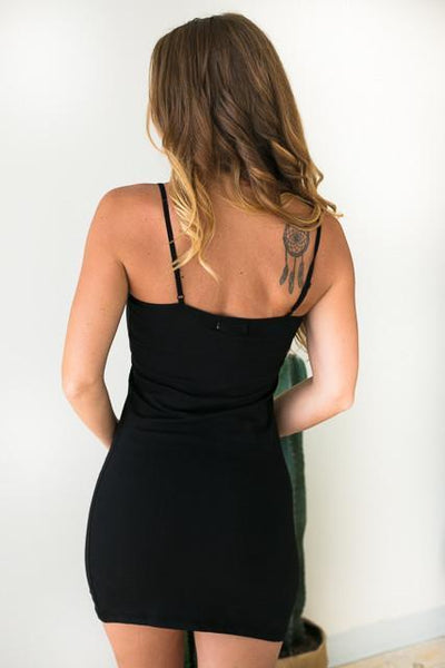 Dresses When You Need It Black Slip Dress - Lotus Boutique