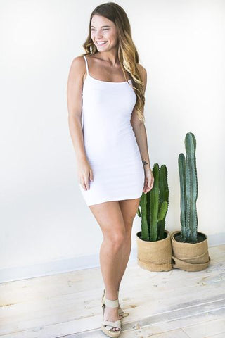When You Need It White Slip Dress