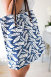 Accessories Fly Like A Feather Blue Beach Tote - Lotus Boutique