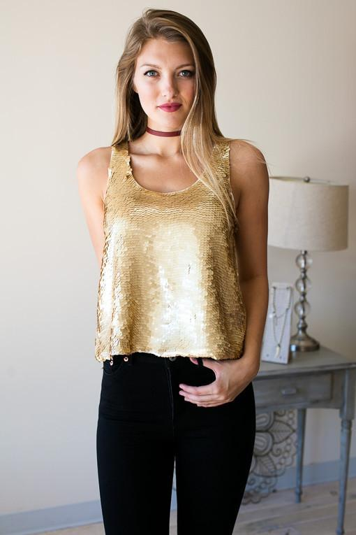 Sweet Sounds Sequin Tank