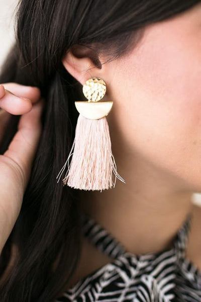 Jewelry All The Pretty Tassels Blush Earrings - Lotus Boutique