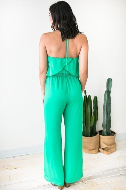 All Year Long Emerald Jumpsuit