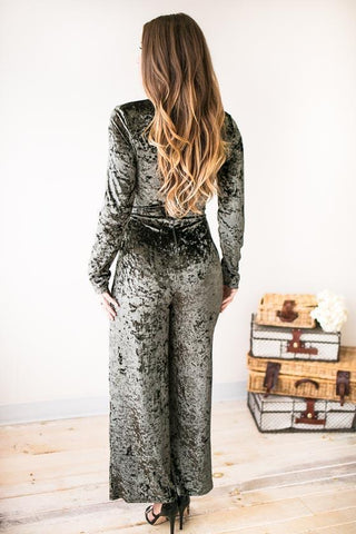 As Swoon As Possible Velvet Jumpsuit