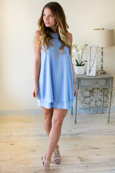 Dresses Chasing Dreams Periwinkle Dress - Lotus Boutique