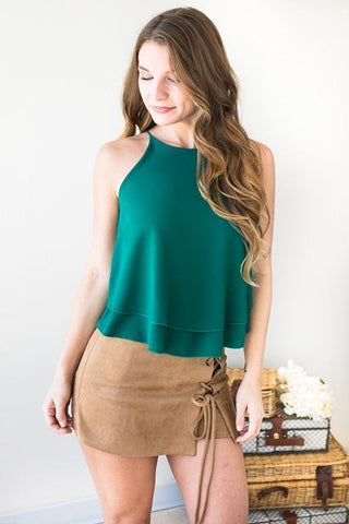 Layer of Sweetness Tank Top - Green