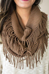 It's Finally Time Fringe Infinity Scarf