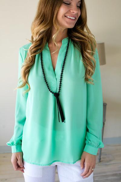 Tops Let's Have Some Fun Mint Top - Lotus Boutique