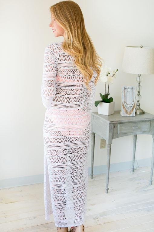 Dreaming In Daylight White Maxi Dress-Dresses-Lotus Boutique-Lotus Boutique