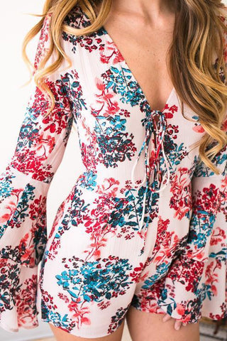 Cherry Blossom Floral Romper