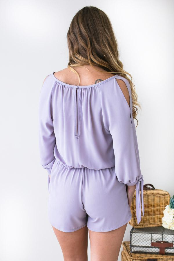 Rompers Flatter Me Lilac Long Sleeve Romper - Lotus Boutique