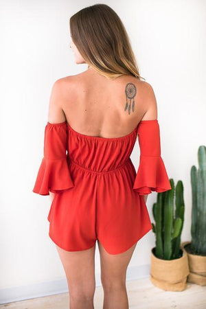 Rompers - Look Out Mini Off Shoulder Romper