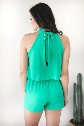 No Limit Romper with Pockets - Green
