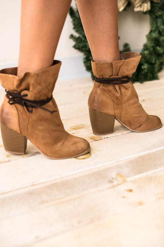 Shoes Around The Bend Wrap Around Bootie - Lotus Boutique
