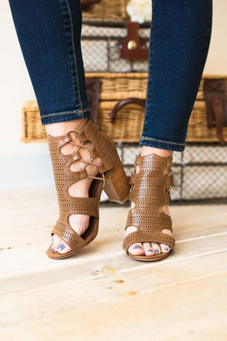 Chloe Caged Open Toe Bootie