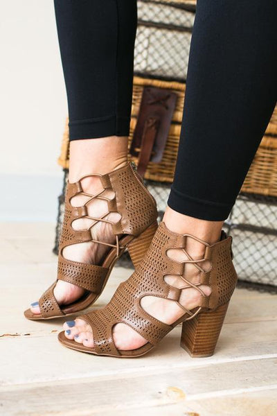 Shoes Chloe Caged Open Toe Bootie - Lotus Boutique