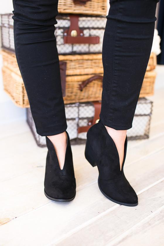 Shoes - Ginny Black Dressy Bootie