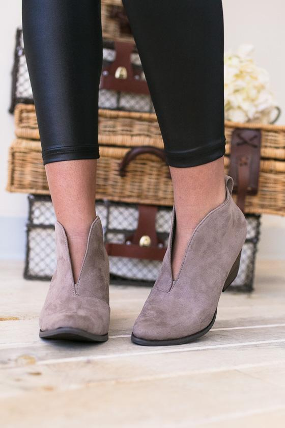 Shoes - Ginny Dressy Bootie- Taupe