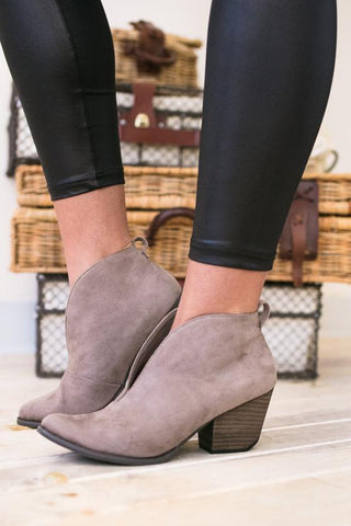 Ginny Dressy Bootie- Taupe