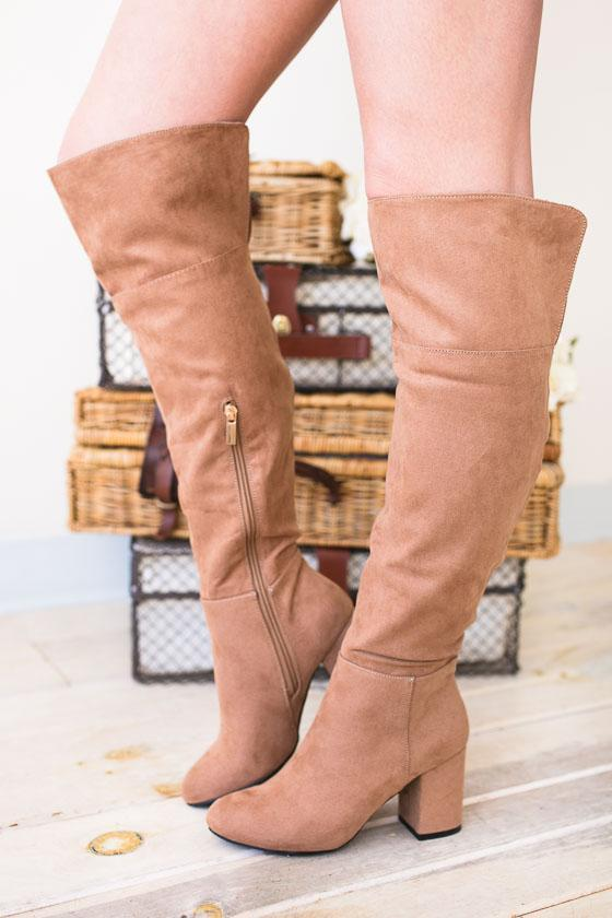 664ef699d224 Shoes Go-Go Girl Suede Tall Boots - Lotus Boutique