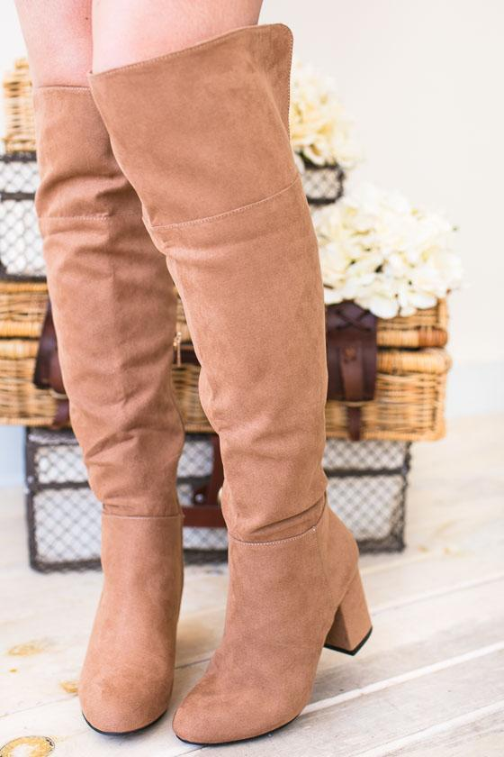 Shoes Go-Go Girl Suede Tall Boots - Lotus Boutique