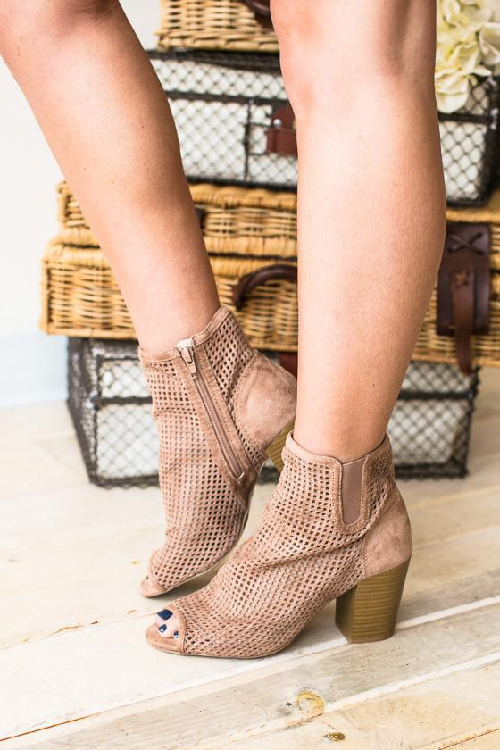 Shoes - Kayla Peep Toe Bootie