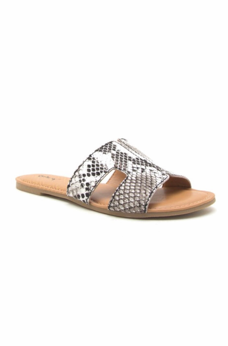 The Cutest Snakeskin Slides