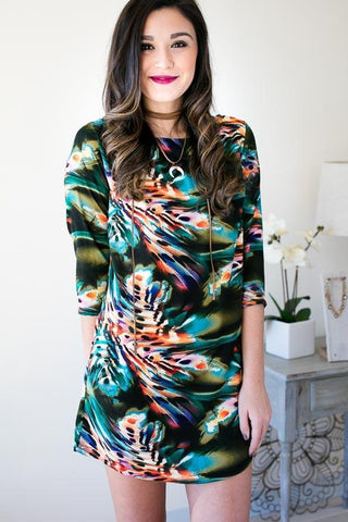 Cold Water Multi Print Dress