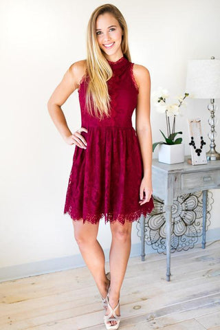 Romantique Lace Party Dress with Back Detail