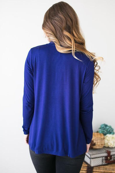 Tops Fly Away Royal Blue Cardigan - Lotus Boutique