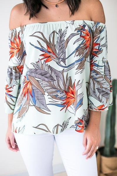 Tops Happiness On Earth Island Palm Top - Lotus Boutique