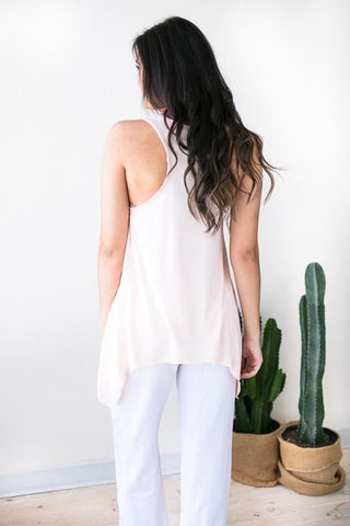 In Control Racer Back Tank - Blush
