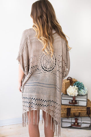 Keep Faith Fringe Mocha Cardigan