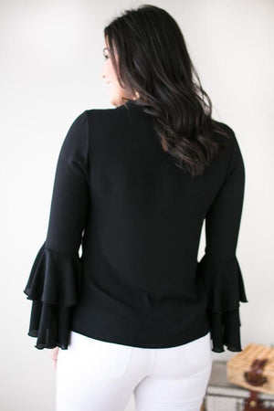 Tops - One More Try Bell Sleeve Blouse