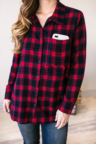 Plaid To Meet You Flannel Top