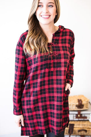 Powerhouse Plaid Tunic with Pockets