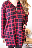 Tops - Powerhouse Plaid Tunic With Pockets